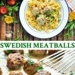 Long collage of Swedish Meatballs recipe
