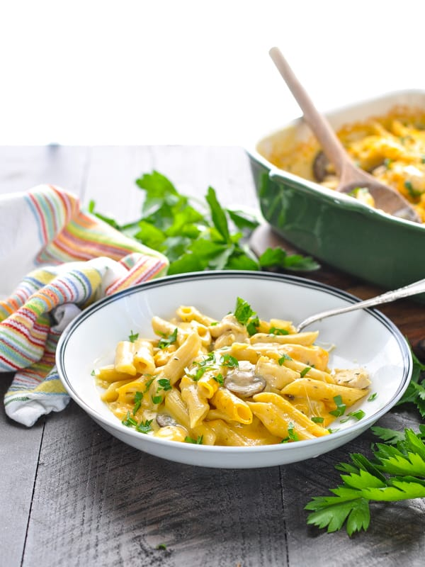 Pasta dish with Chicken penne pasta recipe with mushrooms