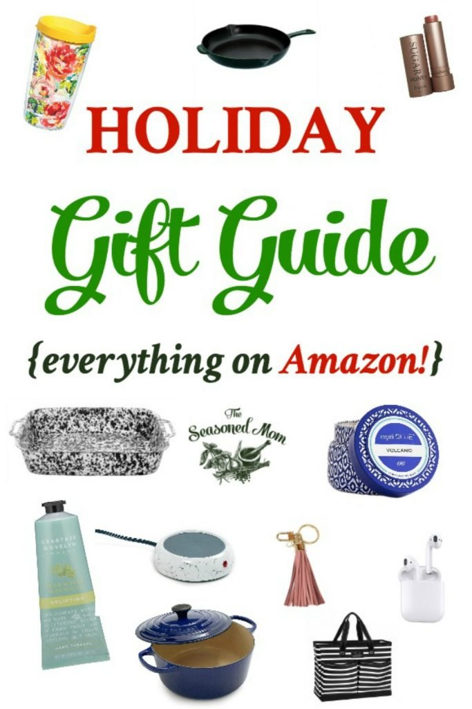 Long collage image of Holiday Gift Guide 2018