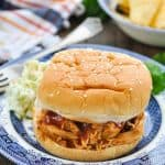 Slow Cooker or Instant Pot Root Beer Barbecue Chicken Sandwich