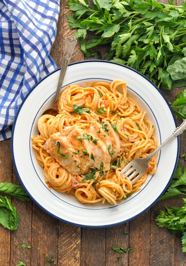 Slow Cooker Creamy Italian Chicken And Sauce The