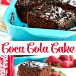 Long collage of Coca Cola Cake