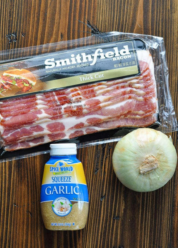 Bacon garlic and onion for southern collard greens recipe
