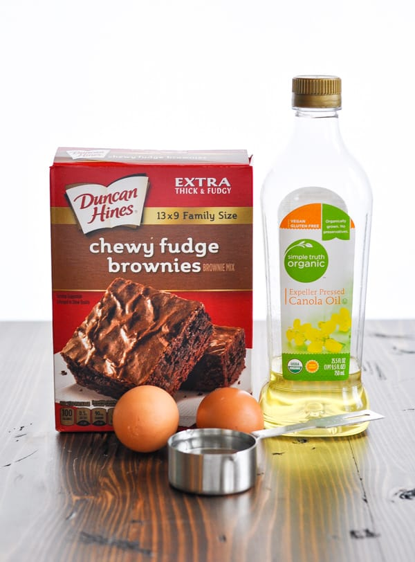 Boxed brownie mix for chocolate trifle