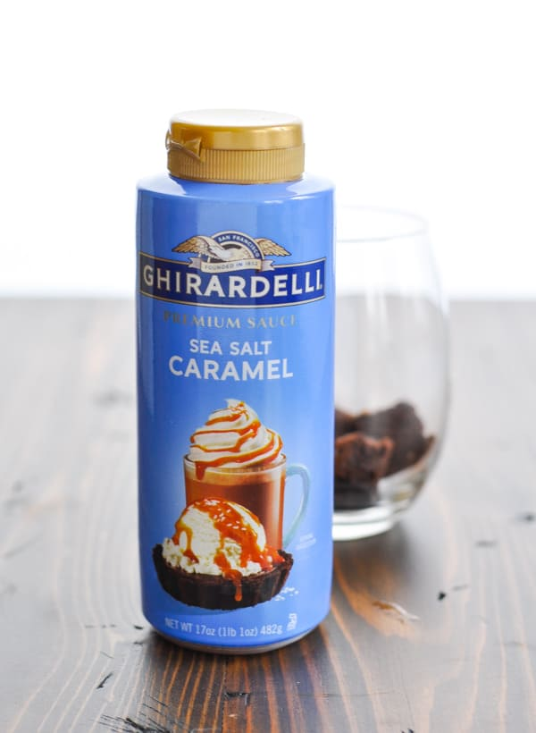 Bottle of Ghirardelli Sea Salt Caramel sauce
