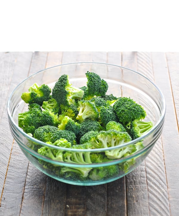Bowl of broccoli florets