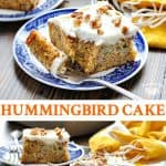 Long collage of Hummingbird Cake recipe