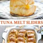 Long collage of Tuna Melt Sliders