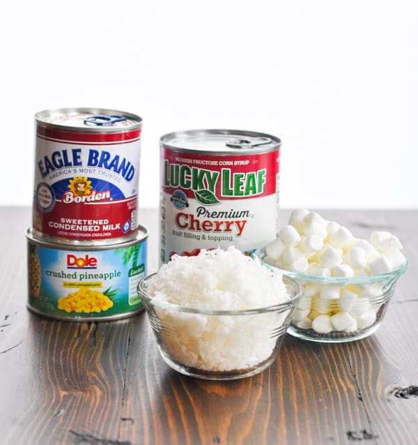 Ingredients for cool whip fruit salad