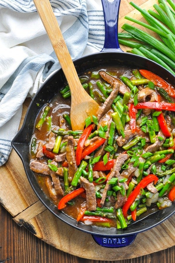 Asparagus And Beef Stir Fry The Seasoned Mom