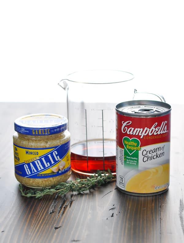 3 ingredients for creamy chicken marsala sauce