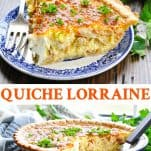 Long collage of Quiche Lorraine recipe