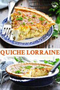 Long collage of Quiche Lorraine recipe
