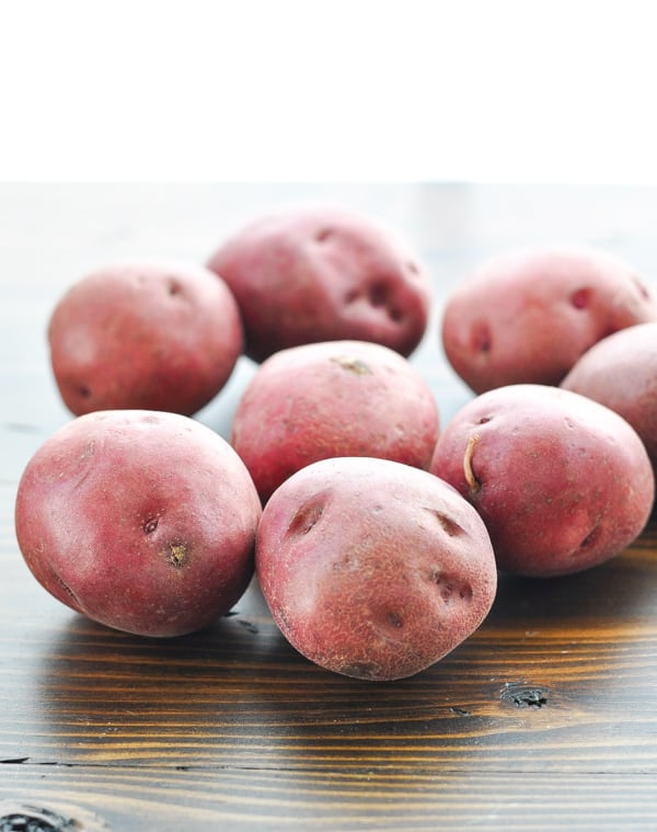 Red potatoes to use in southern potato salad recipe