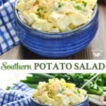 Long collage of Southern Potato Salad