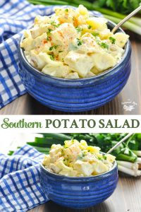 Long collage of Southern Potato Salad
