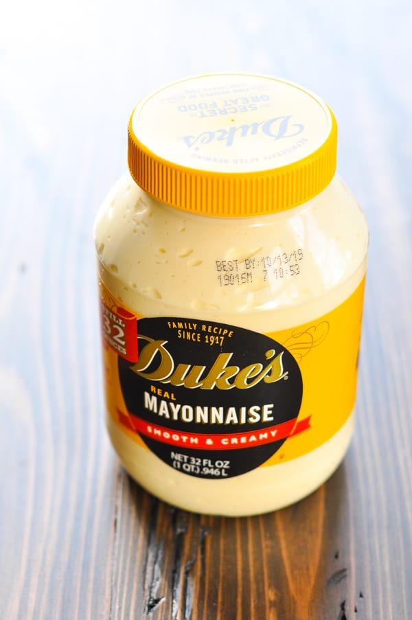 Jar of Duke's mayonnaise
