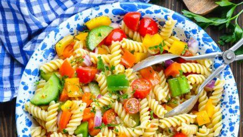 Classic Pasta Salad Recipe The Seasoned Mom