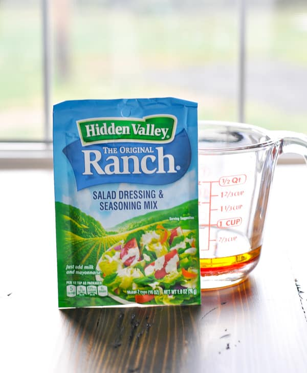 Packet of Ranch seasoning mix