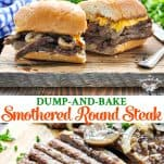 Long collage of smothered round steak recipe