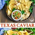 Long collage of Texas Caviar