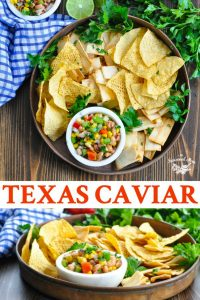Long collage of Texas Caviar