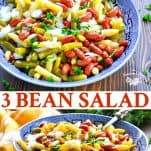 Long collage of Three Bean Salad recipe