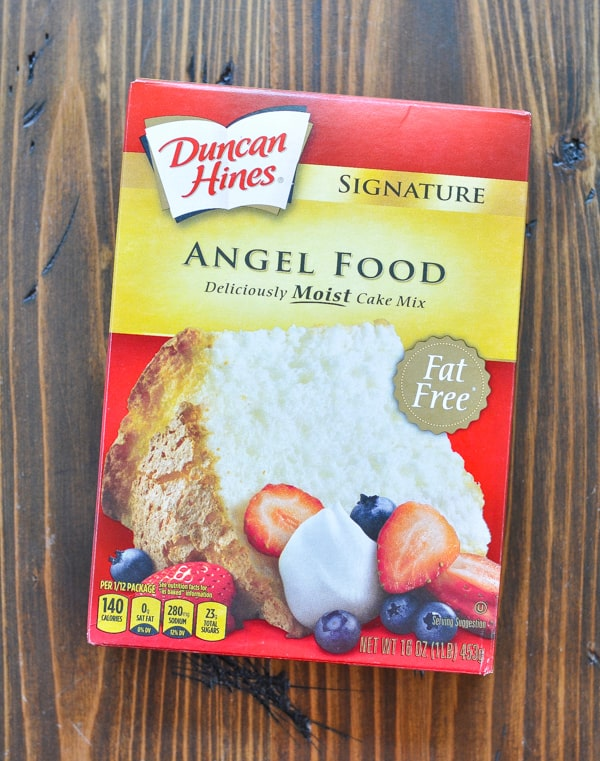 Box of angel food cake