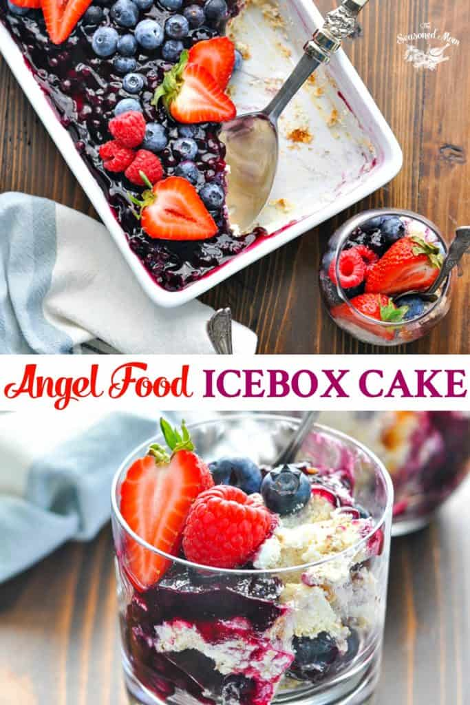 Long collage of Angel Food Icebox Cake