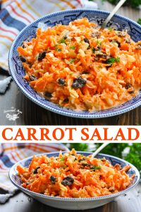 Long collage of Carrot Salad recipe