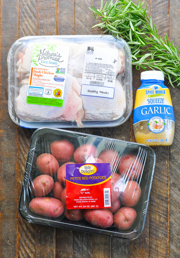 Ingredients for rosemary chicken and potatoes