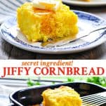 Long collage of Jiffy Cornbread