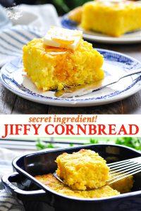 Long collage of Jiffy Cornbread