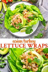 Long collage of Asian Turkey Lettuce Wraps