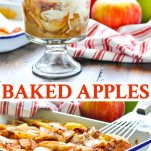 Long collage of Baked Apples