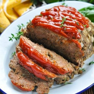Close up shot of sliced Crock Pot meatloaf