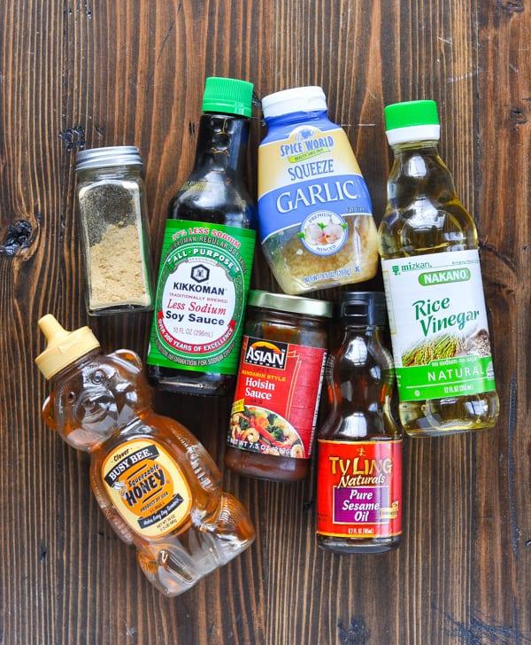 Ingredients for honey garlic chicken sauce