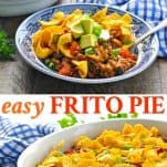 Long collage of Frito Pie recipe