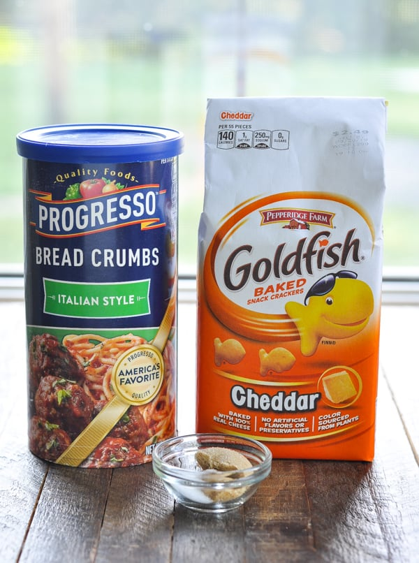 Breading ingredients for Goldfish cracker Chicken nuggets recipe