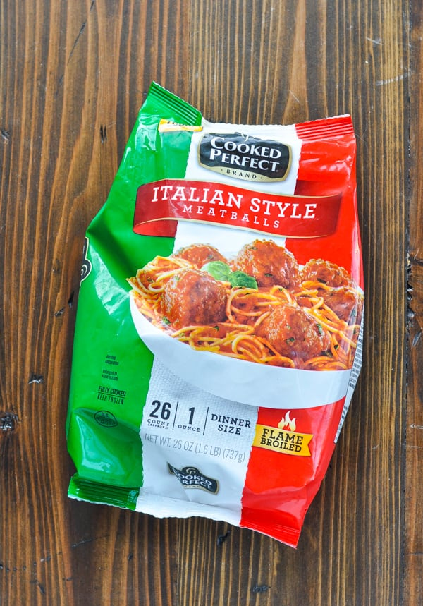 Bag of frozen Italian style meatballs