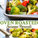 Long collage of Oven Roasted Broccoli