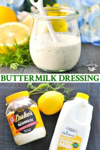 Long collage of buttermilk dressing recipe