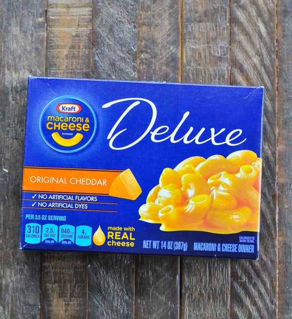 Box of Kraft Deluxe mac and cheese