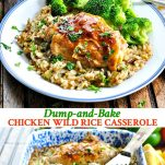 Long collage of Chicken Wild Rice Casserole