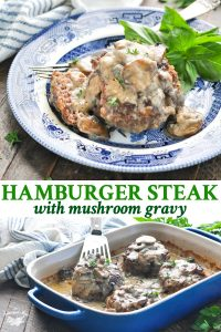 Long collage of Hamburger Steak