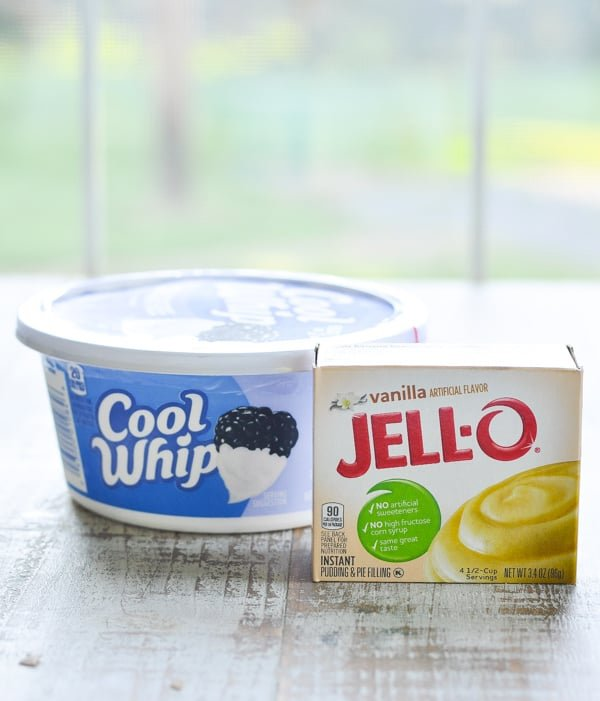 Cool whip and jello vanilla instant pudding