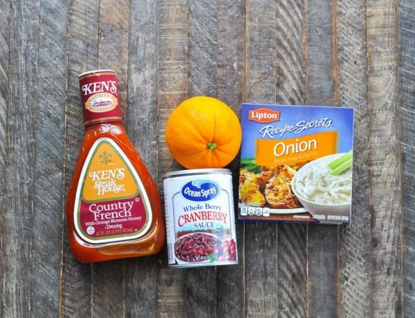 Ingredients for cranberry chicken breasts