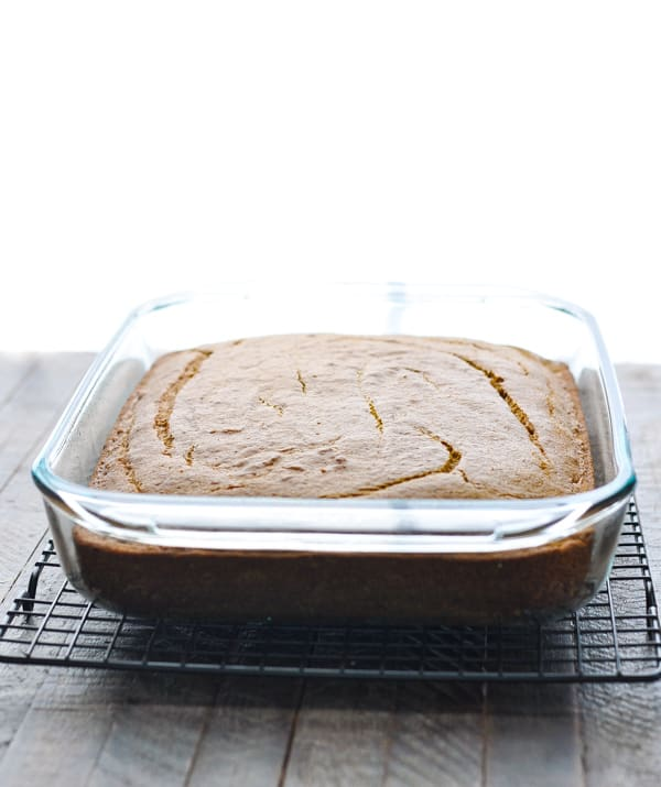 Baked pumpkin cake without frosting