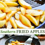 Long collage image of Southern Fried Apples