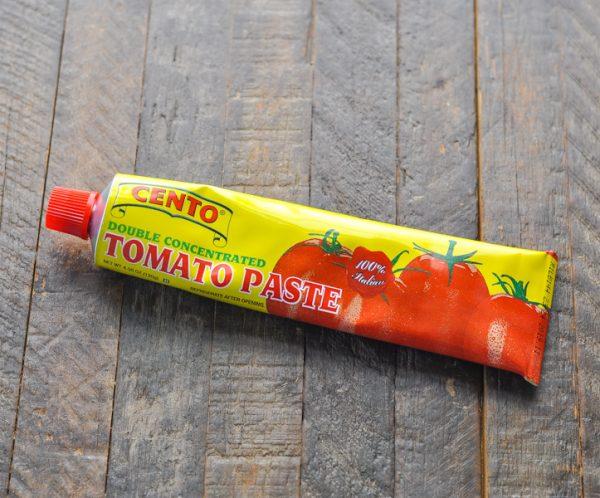 Tube of tomato paste